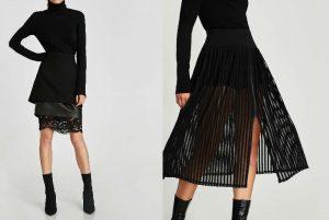 cu ce ma imbrac, suprapuneri, straturi, negru, black, fusta neagra, dantela