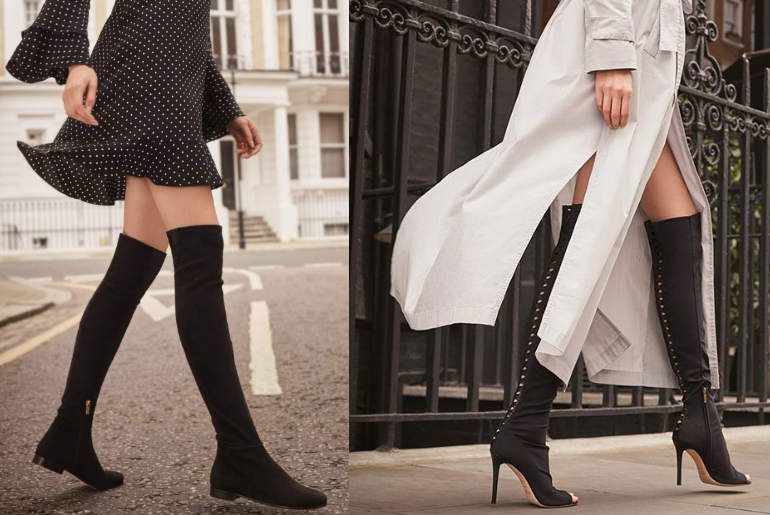 cizme peste genunchi, jimmy choo, over the knee boots