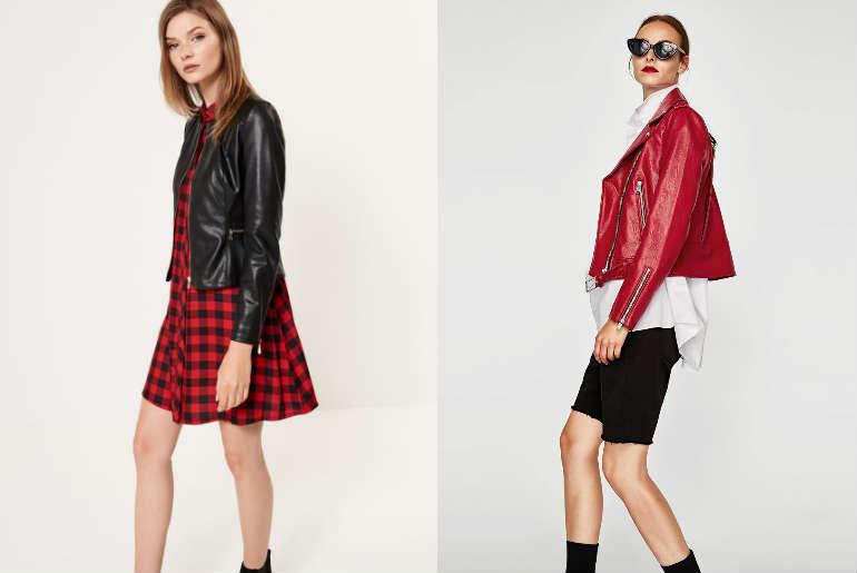 cu ce ma imbrac, jacheta de piele, geaca de piele, negru, rosu