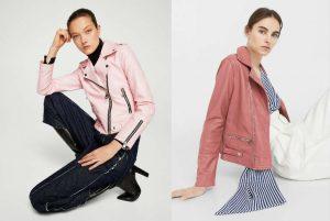cu ce ma imbrac, jacheta de piele, geaca de piele, roz