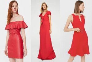 rochie rosie, rochie rosie de zi, rochie rosie de seara, rochie camasa, cu ce ma imbrac, Mango
