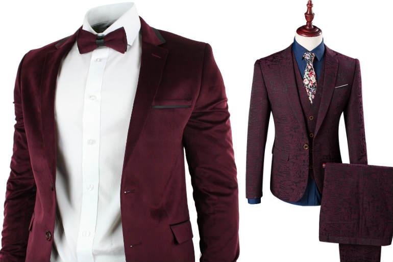 sacou bordeaux, sacou bordo, ceremonie, burgundy jacket, ceremony, burgundy bowtie