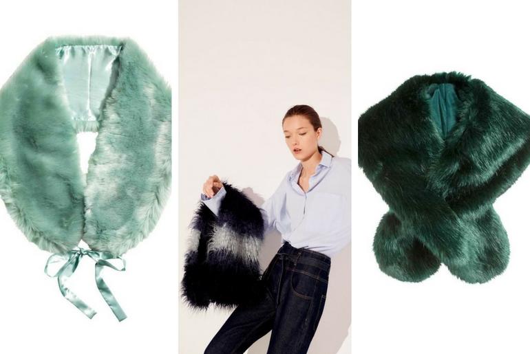 cu ce ma imbrac, cucemaimbrac, guler de blana, verde, alb, negru