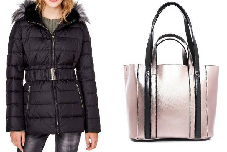 cu ce ma imbrac, cucemaimbrac, jacheta cu puf, geaca cu puf, negru, geanta, tote, bej, auriu
