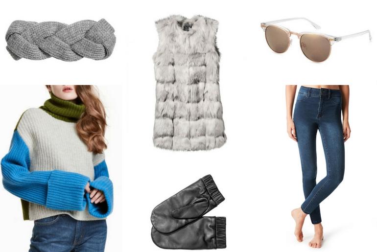cu ce ma imbrac, cucemaimbrac, patinoar, bentita, vesta de blana, manusi, ochelari de soare, leggings, colanti, pulover