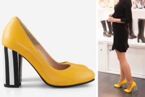 cu ce ma imbrac, cucemaimbrac, pantofi galben cu negru, pantofi office, pantofi fancy