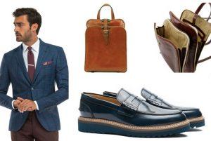 cu ce ma imbrac, cucemaimbrac, rucsac maro, ținuta business casual, pantofi de piele bleumarin