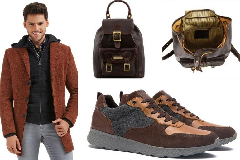 cu ce ma imbrac, cucemaimbrac, rucsac maro, ținuta casual sport, pantofi de piele
