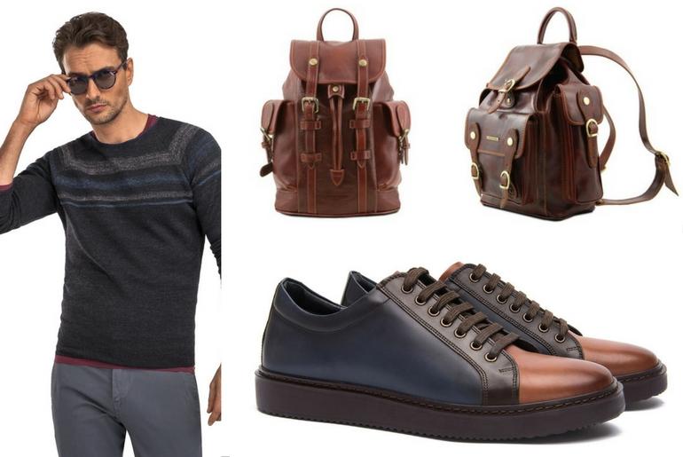 cu ce ma imbrac, cucemaimbrac, rucsac maro, ținuta casual, pantofi de piele