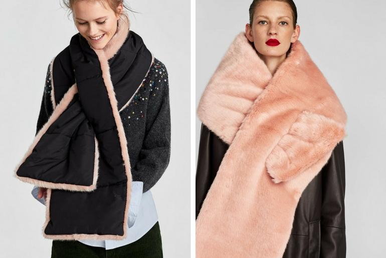 cu ce ma imbrac, cucemaimbrac, sal de blana reversibil, negru, roz