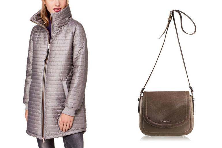 cu ce ma imbrac, cucemaimbrac, jacheta cu puf, geaca cu puf, bej,metalizat, geanta de umar,maro, piele