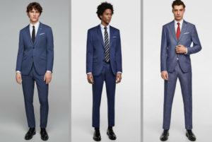costum business, vara, vară, albastru, bleumarin, in, bumbac, costum,